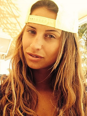 TOWIE's Ferne McCann shares a selfie from holiday in Spain, 29 April 2014