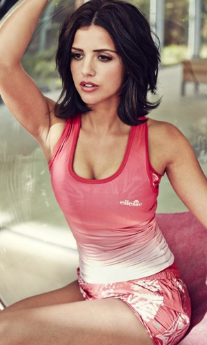 Lucy Mecklenburgh poses as the new face of the Ellesse BODY/WORKS campaign - April 2014