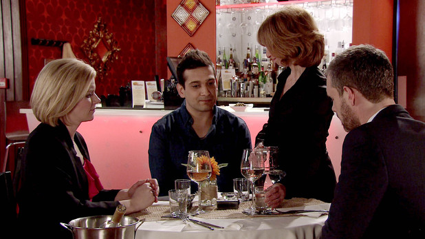 Corrie, Kal has dinner with Leanne and Nick, Wed 30 Apr