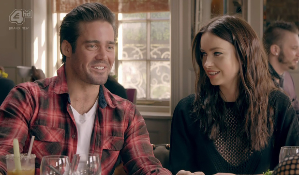 Made In Chelsea's Spencer Matthews and Emma Miller have lunch together. Aired: 29 April 2014.