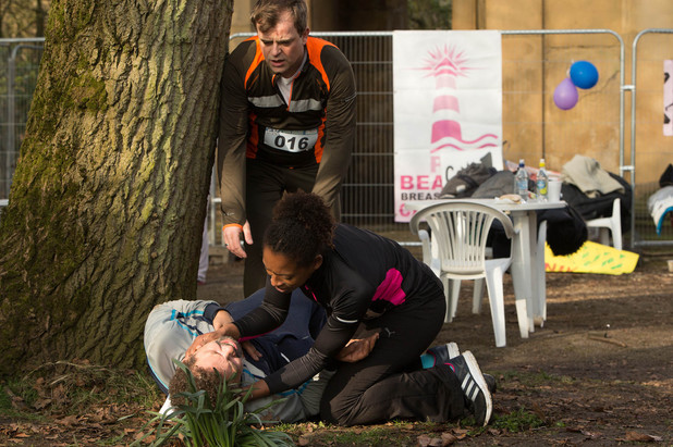Corrie, Lloyd has a heart attack, Mon 5 May