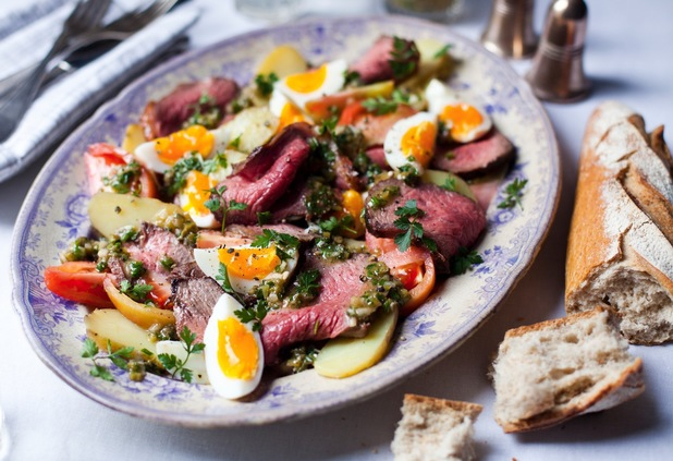 French style beef salad