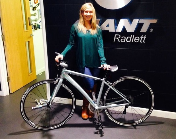 Brooke Kinsella all set for 'Bike For Ben' Paris to London charity ride - 1 May 2014
