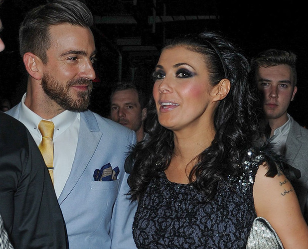 Kym Marsh is pictured for the first time on a night out with the new man in her life Dan Hooper.EXCLUSIVE SET ONLY TO BE USED BY REVEAL