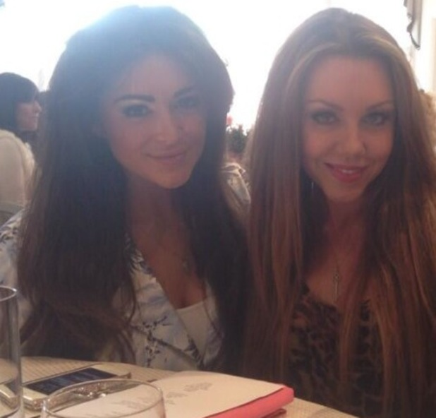Michelle Heaton and Casey Batchelor at the World Jewish Relief Old Bags Brunch - 29 April 2014
