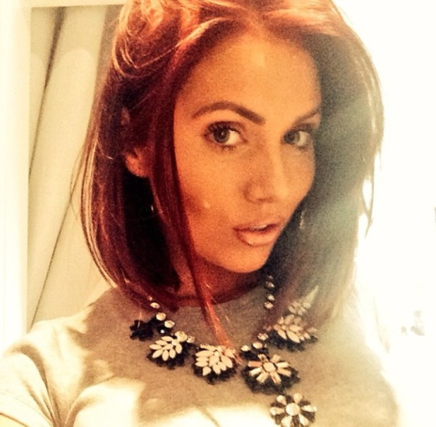 Amy Childs, selfie with bobbed hair, 26 April 2014