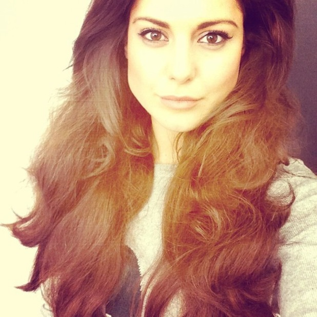 Made In Chelsea's Louise Thompson flaunts long Rapunzel-esque hair extensions during a photoshoot - 1 May 2014