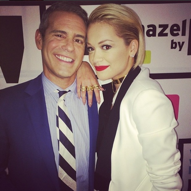 Rita Ora films a chat show appearance with Andy Cohen in New York, America - 28 April 2014
