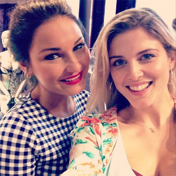 Former Made In Chelsea star Ashley James and Sam Faiers stop by the Ann Summers and Giles Deacon event in London, England - 1 May 2014