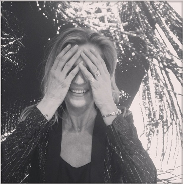 Nick Grimshaw posts a photo of Kate Moss covering her eyes