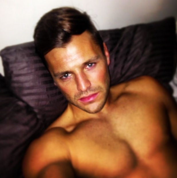 Mark Wright's mournful selfie from bed as he misses fiancee Michelle Keegan, 29 April 2014