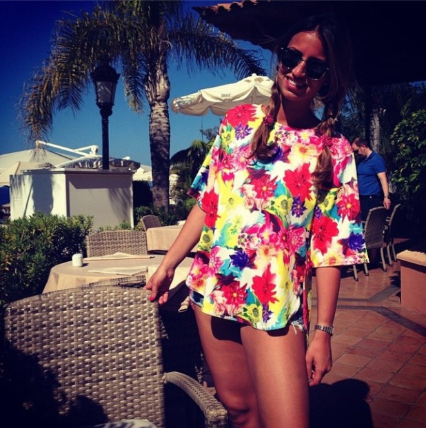TOWIE's Ferne McCann shares more pictures from her holiday, believed to be in Valencia, Spain - 30 April 2014