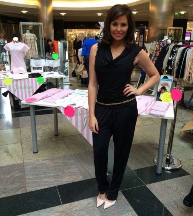TOWIE's Jessica Wright at With Love, Jessica pop-up in Southampton's West Quay - 2 May 2014