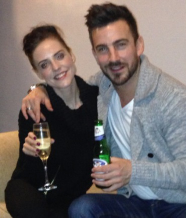 Stephanie Waring and her now ex-boyfriend Dan Hooper at New Year - 1 Jan 2014