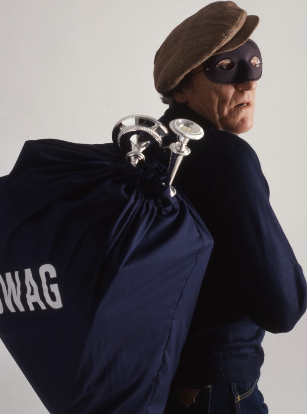 Robber with swag bag