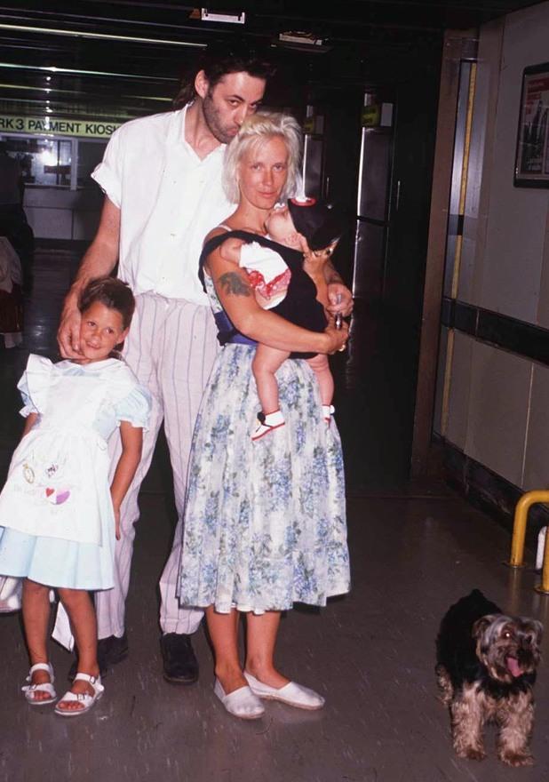 Paula Yates and Bob Geldof with Peaches and Fifi Trixibelle