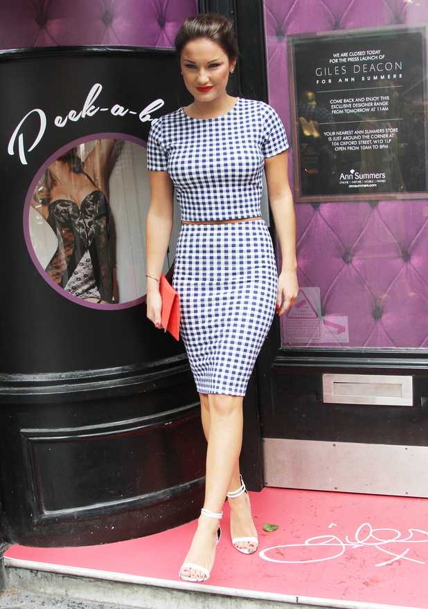 Sam Faiers stops by the Ann Summers and Giles Deacon event in London, England - 1 May 2014