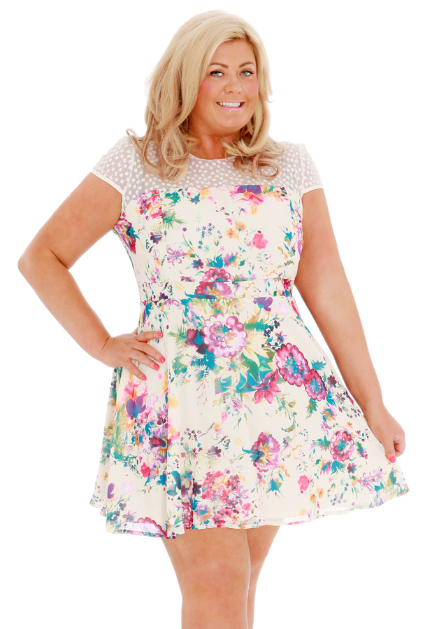 TOWIE's Gemma Collins models the Malta dress from her fifth clothing collection - 1 May 2014