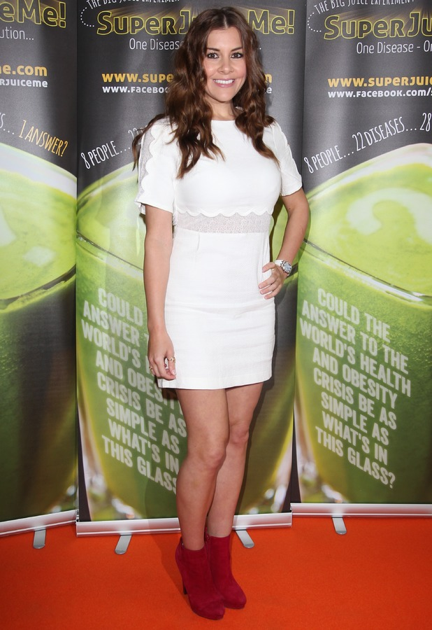 Imogen Thomas attends the premiere of Super Juice Me! in London, England - 26 April 2014