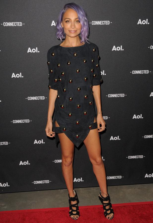 Nicole Richie attends the AOL Newfront Original Programming event in New York, America - 29 April 2014