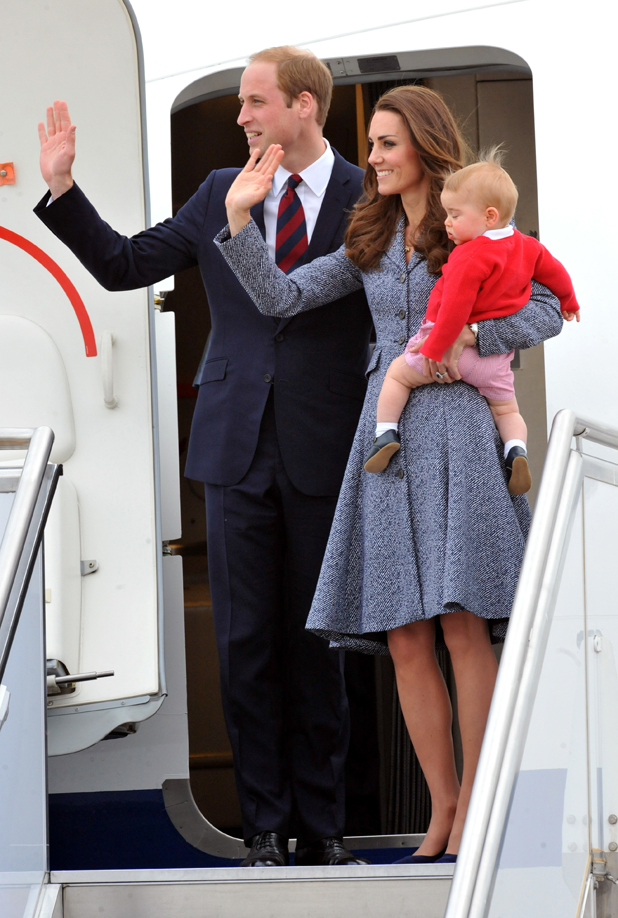 The Duke And Duchess Of Cambridge Tour Australia And New Zealand - Day 19, they say goodbye at Canberra Airport, 25 April 2014