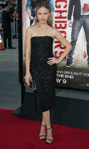 Halston Sage, Universal Pictures World premiere of NEIGHBORS at Regency Village Theater in Westwood, 28 April 2014