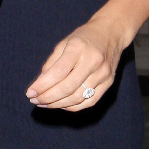 Katherine Jenkins' engagement ring at BBC Radio 2 Studios, London, Britain - 02 May 2014