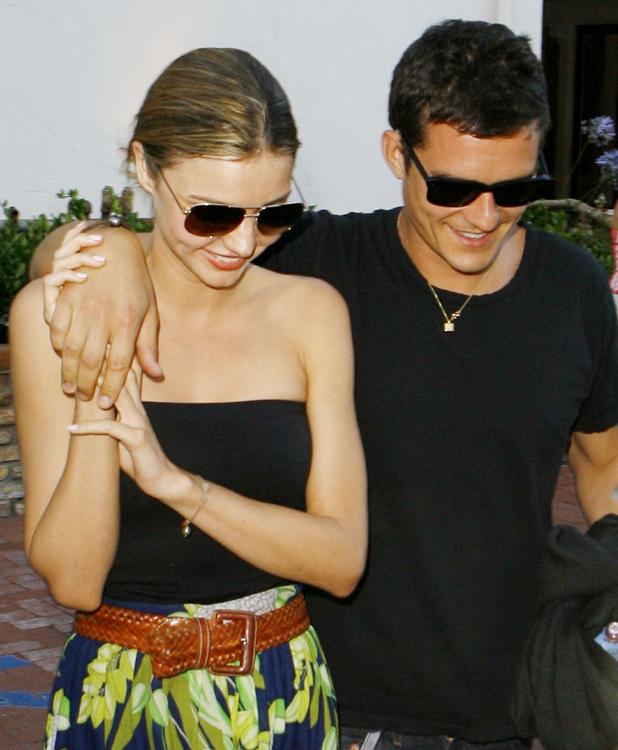Orlando Bloom and Miranda Kerr leaving Taverna Tony in Malibu, Los Angeles, 2009