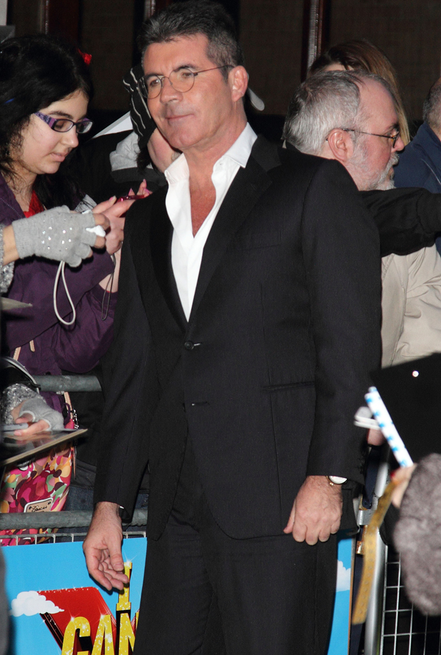Simon Cowell at the 'I Can't Sing' Press Night at the London Palladium, London, 26 March 2014