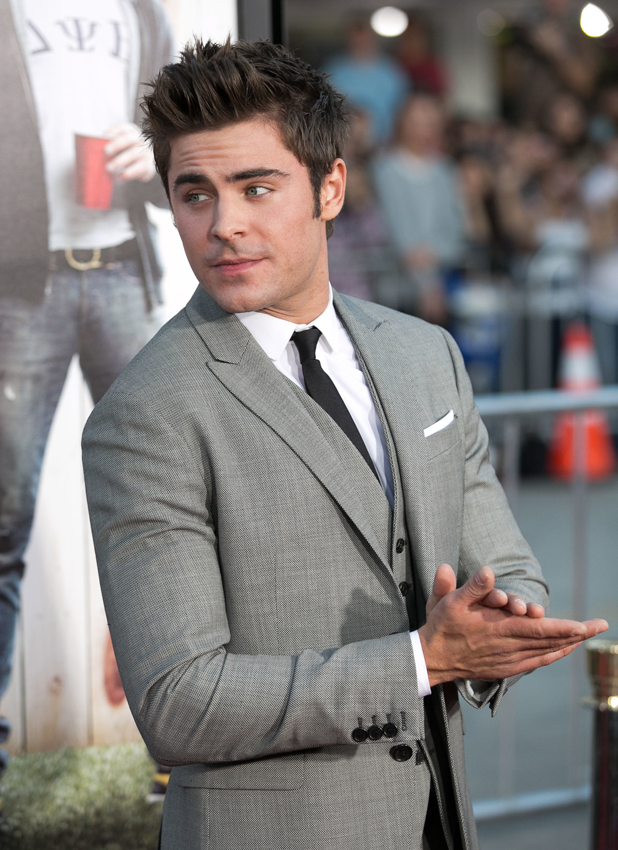 Zac Efron attends Universal Pictures World premiere of NEIGHBORS at Regency Village Theater in Westwood, April 2014
