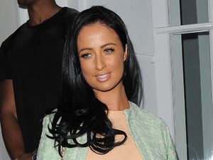 Chantelle Houghton attends the launch of Tracie Giles' new salon in Knightsbridge, London - 8 May 2014