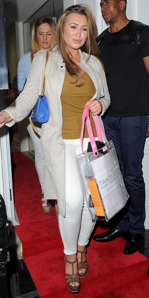 Lauren Goodger attends the Tracie Giles salon launch in Knightsbridge, London - 8 May 2014