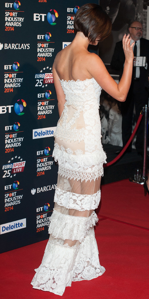 Lucy Mecklenburgh shows off new short bob at BT Sport Industry Awards held at Battersea Evolution - 8 May 2014