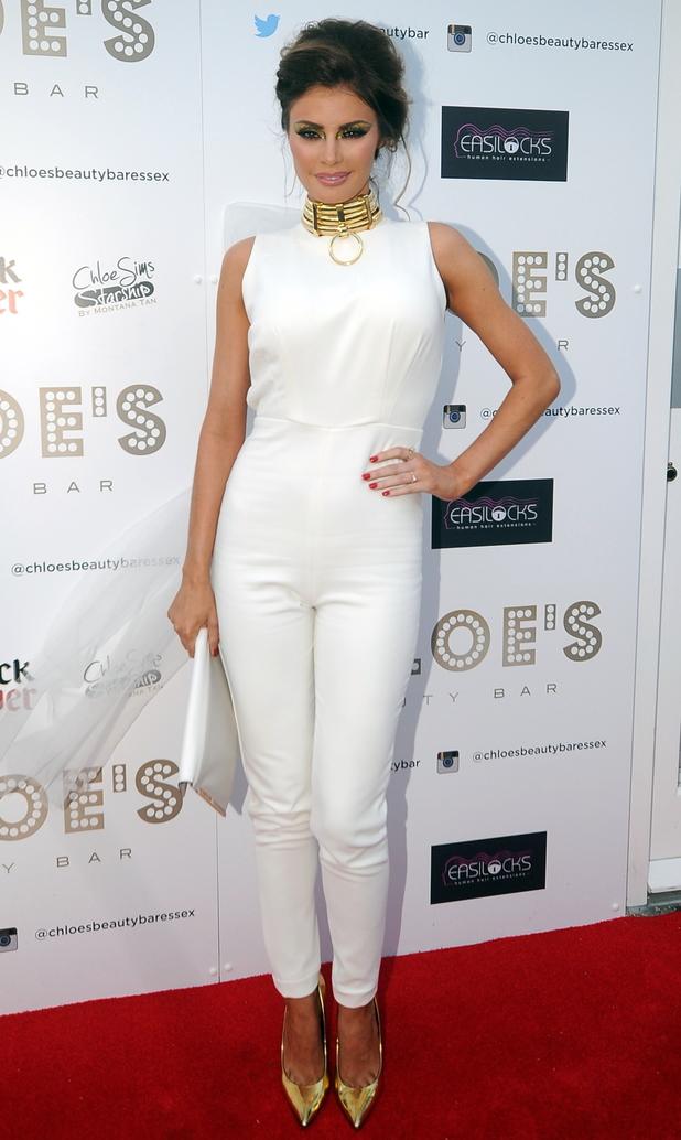 Chloe Sims at Chloe's Beauty Bar Launch. 5 May 2014.