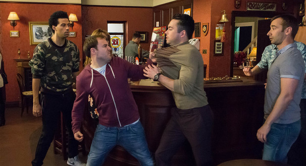 Corrie, Tyrone punches Todd, Mon 12 May