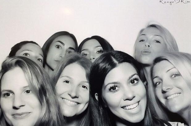 Kourtney Kardashian Kim K bridal shower, May 14