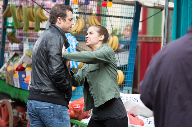 EastEnders, Lauren flies at Jake, Mon 12 May