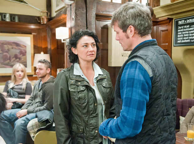 Emmerdale, James angry with Moira, Tue 13 May