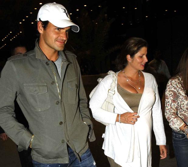 Roger Federer and wife Mirka at the Lenny Kravitz's concert Madrid, Spain - 08.05.09