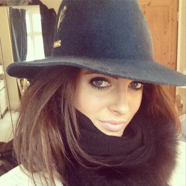 Made In Chelsea's Binky Felstead poses for an Instagram selfie - 2 October 2013