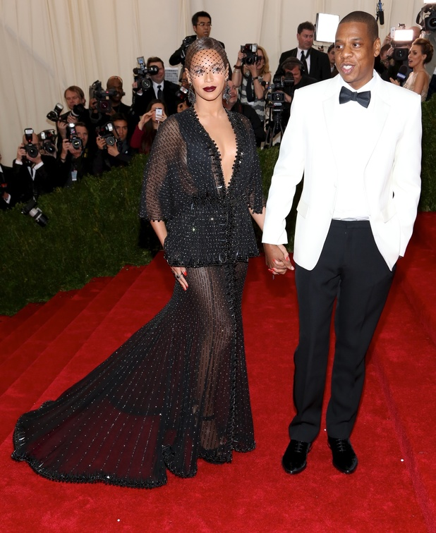 Beyonce Knowles and Jay Z attend the Costume Institute Gala Benefit at the Metropolitan Museum of Art in New York, America - 5 May 2014