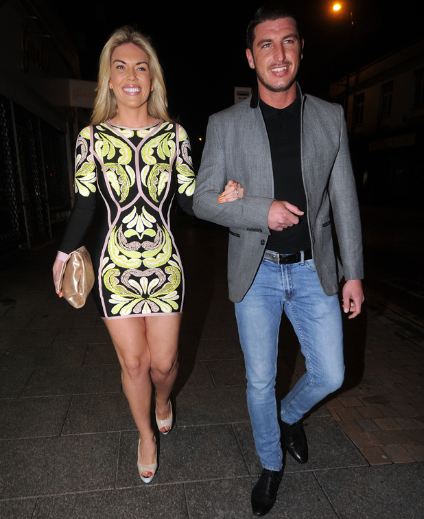 Frankie Essex and John Lyons attend launch of Chloe Sims' beauty bar in Brentwood - 8 May 2014