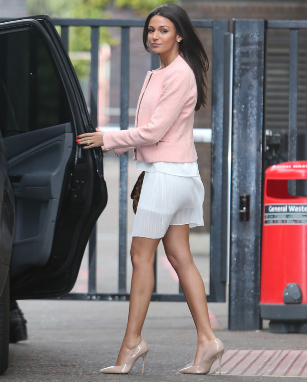 Michelle Keegan outside the ITV studios ahead of Lorraine High Street Fashion Awards chat - 6 May 2014