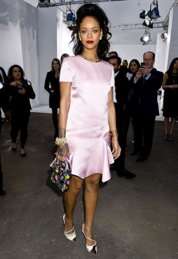 Rihanna attends the Dior Cruise Fashion Show in New York, America - 7 May 2014