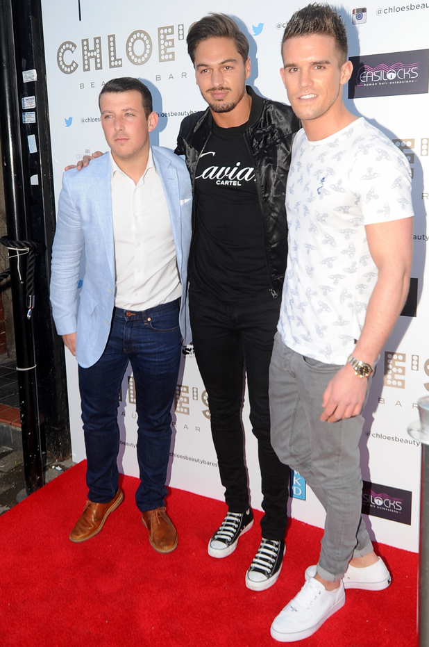 Mario Falcone, Little Chris and Gaz Beadle attend launch of Chloe Sims' beauty bar in Brentwood - 8 May 2014