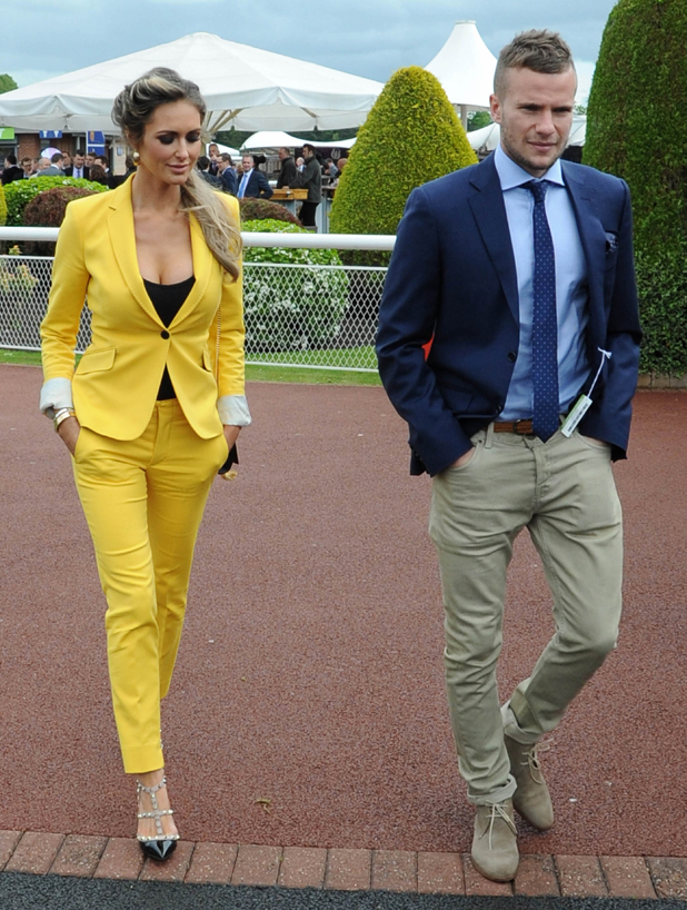 Georgina Dorsett and Tom Cleverley at The May Festival at Chester Racecourse, 7 May 2014