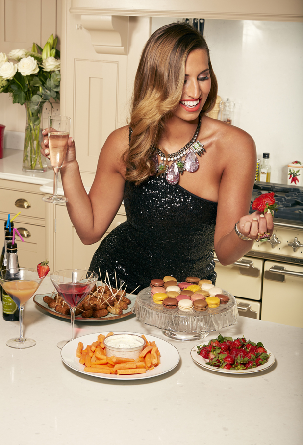 Ferne McCann prepares for her Macmillan Night In to raise money and awareness for Macmillan Cancer Research, May 2014
