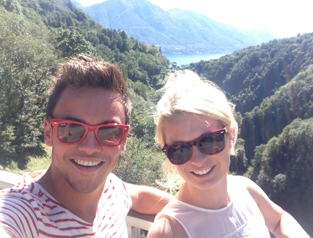 Tom Daley Goes Global, episode airing 8 May 2014: Tom and Sophie Lee in Switzerland