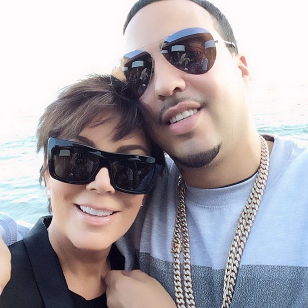 Kris Jenner and French Montana pose for a selfie, 7 May 2014