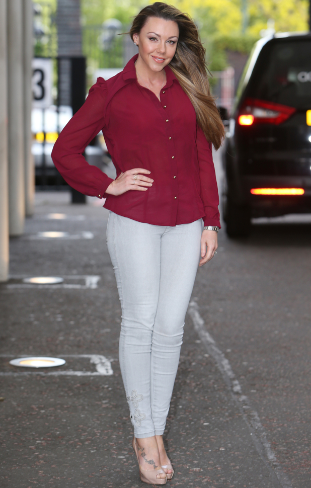 Michelle Heaton outside the ITV studios, 7 May 2014